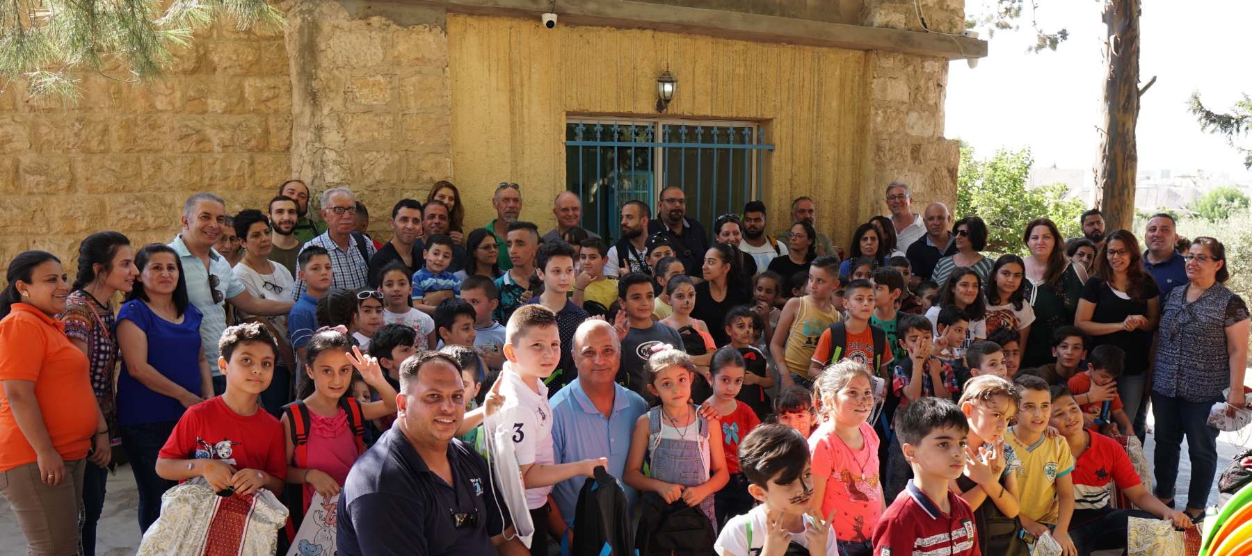 Nazareth Village staff bless refugee children with back-to-school bundles in Jordan